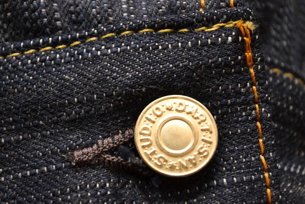 Studio-D'artisan-SDA-4385-AI-Natural-Indigo-Denim-Jacket-button