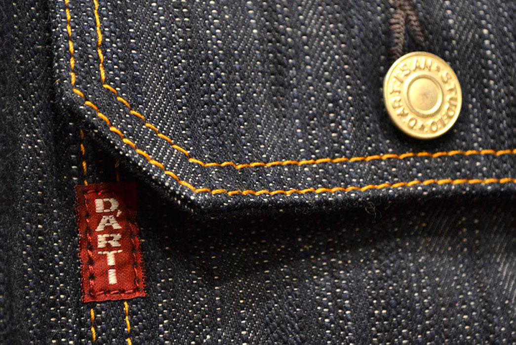 Studio-D'artisan-SDA-4385-AI-Natural-Indigo-Denim-Jacket-chest-pocket-tab