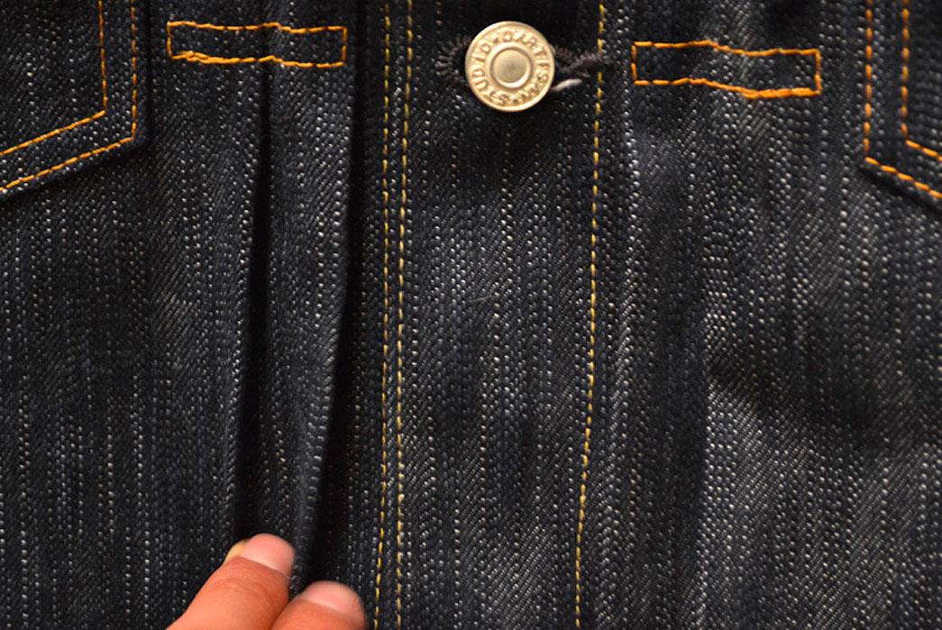 Studio-D'artisan-SDA-4385-AI-Natural-Indigo-Denim-Jacket-pleats