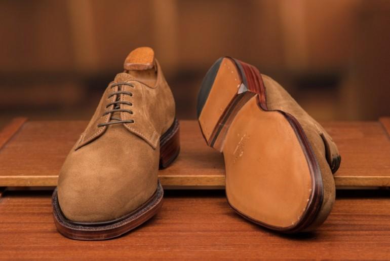 carmina-suede-plain-toe-blucher-shoes