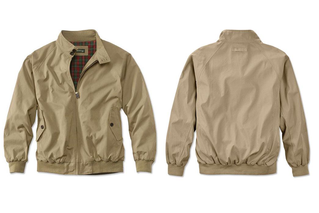 harrington-style-jackets-five-plus-one-4-orvis-weatherbreaker-in-tan-red