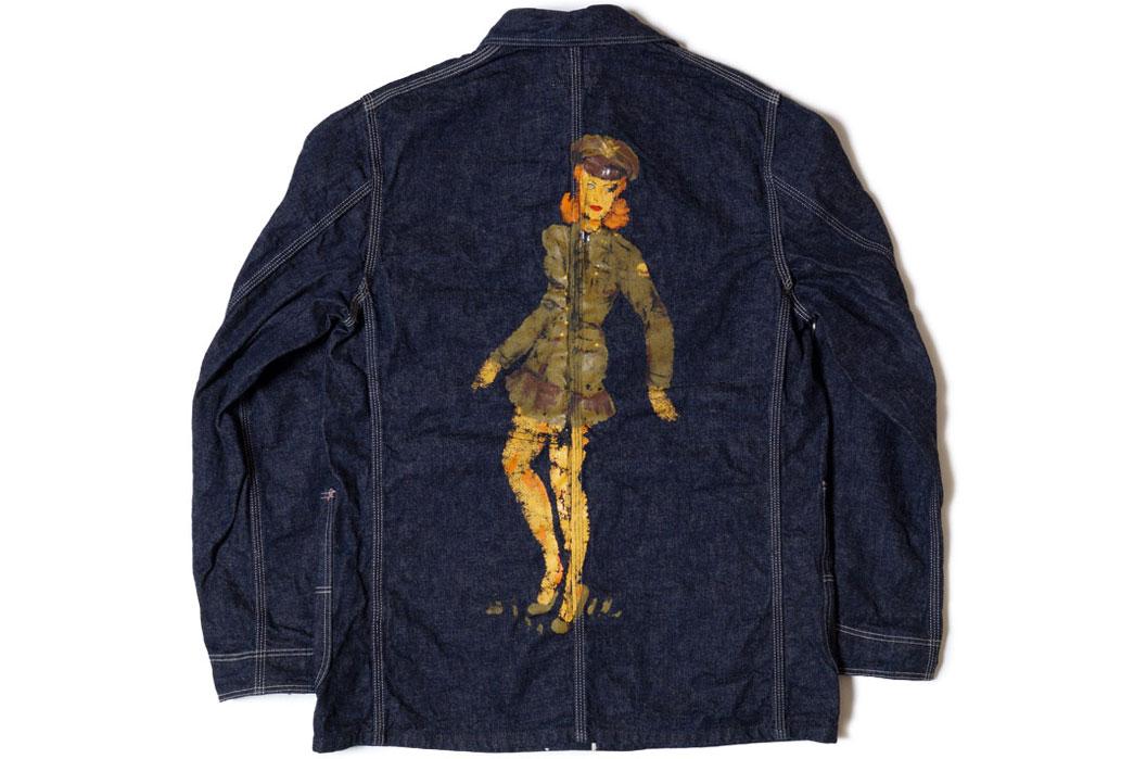 heller's-cafe-1950's-military-art-denim-coverall-jacket-back-flat