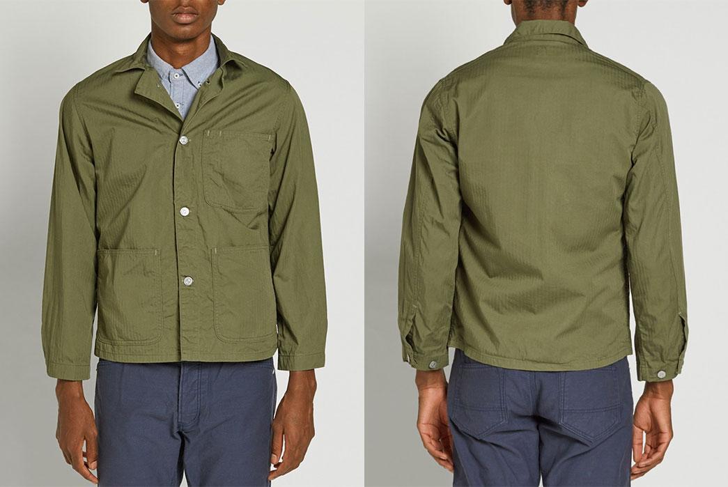 kaptain-sunshine-olive-41-jacket-fit-front-and-back