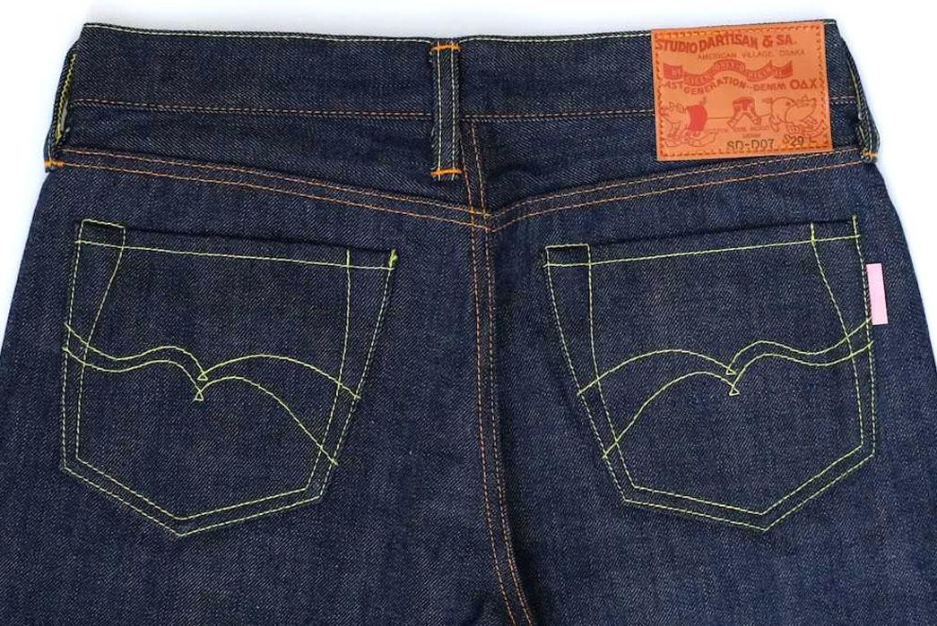 studio-d'artisan-sd-d07-slim-tapered-denim-fit-back-closeup