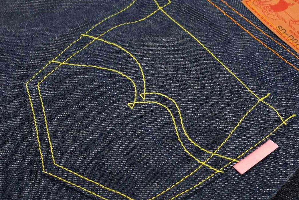 studio-d'artisan-sd-d07-slim-tapered-denim-fit-back-pocket-closeup