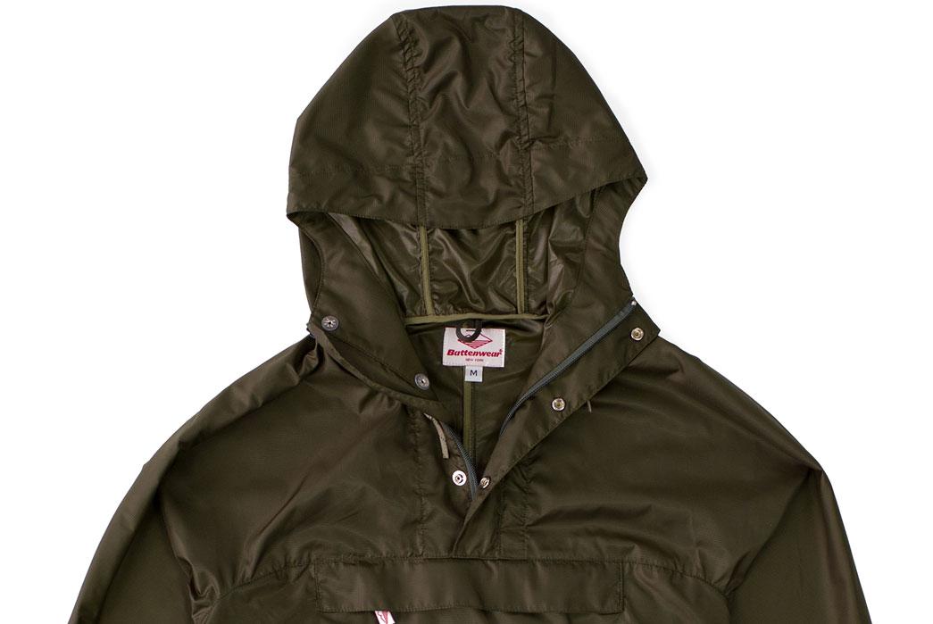 Battenwear-x-Ace-Hotel-Packable-Ripstop-Anorak-top-closeup