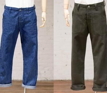 Evan-Kinori-Four-Pocket-Pants-in-Olive-and-Denim-front