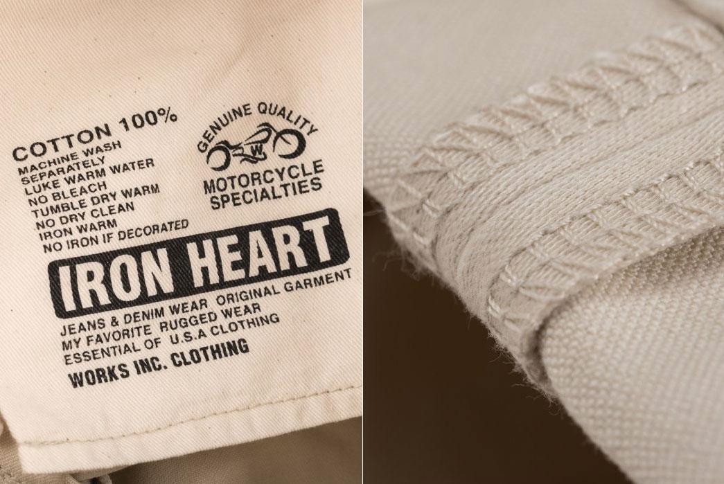 Iron-Heart-14oz-Ivory-Cotton-Satin-Slim-Cut-Jean-(The-Devil's-Fit)-IH-666S-ST-pocket-bag-hem