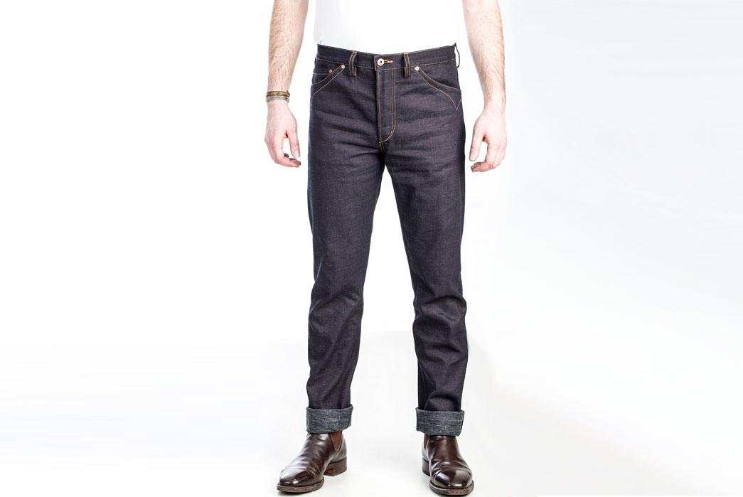 JWJ Brand Blue-U Dark Warp 11.5oz. Jeans