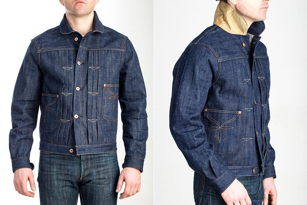 JWJ Brand's El Patrón jacket using Sugar Cane denim.