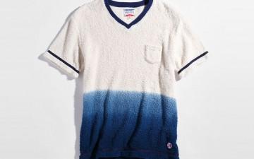Pherrows-bakapile henley bicolor-bakapile-short-shirt