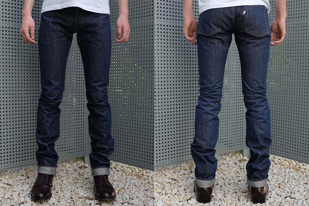 Pure Blue Japan AI-13-TSM Hand-Dyed Natural Indigo Jeans