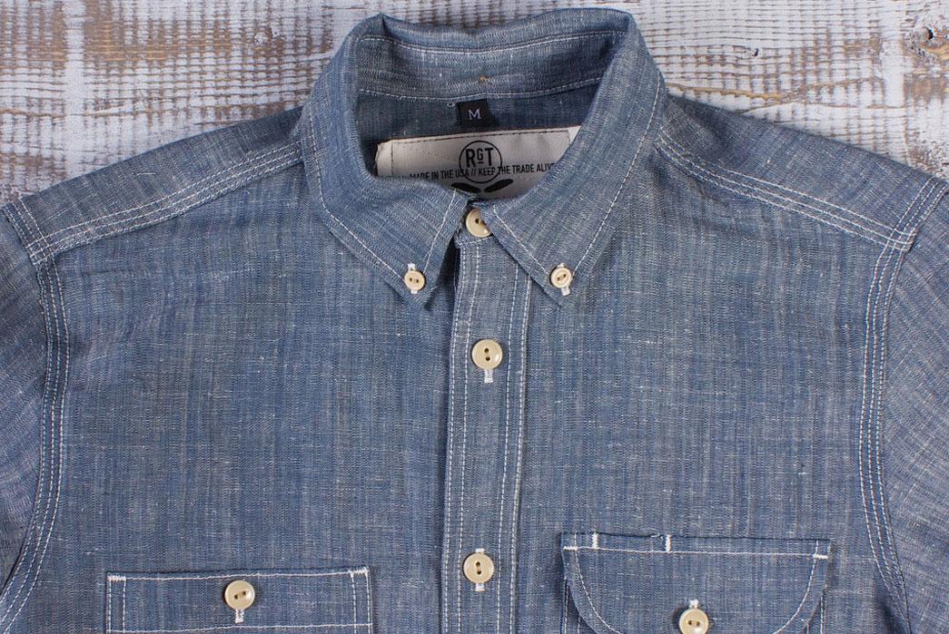 Rogue Territory Hank-Dyed 6oz. Natural Indigo Work Shirt