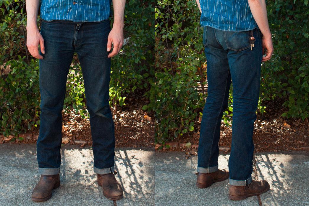 Standard-&-Strange-x-Ooe-Yofukuten---OA02-510-Slim-Tapered-Unsanforized-Jean-after-two-months-of-wear