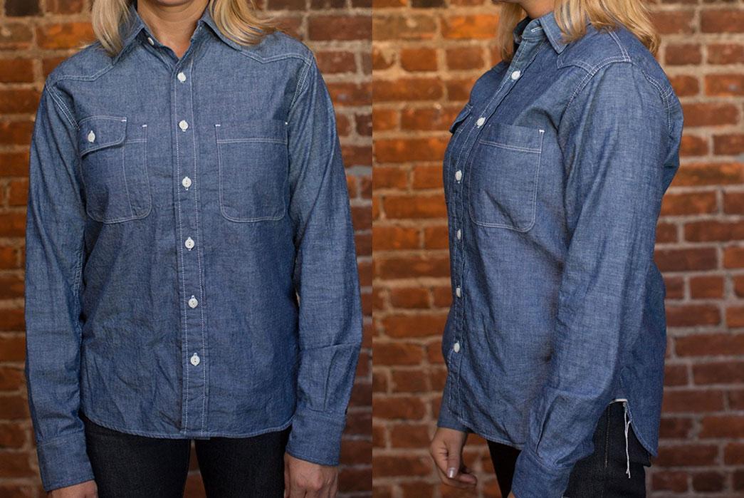 Tellason-Lady-Topper-Chambray-Work-Shirt-fit