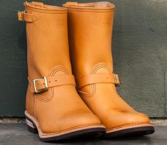 Wesco-Van-Cleef-Veg-Tan-Engineer-Boots-front