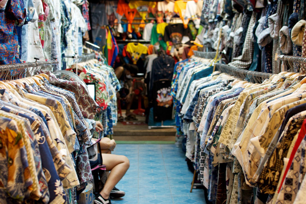Vintage shirts at Chat-u-Chak in Thailand