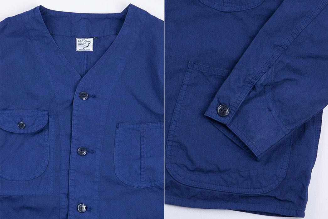 orSlow-Ink-Blue-Poplin-Rail-Road-Jacket-details