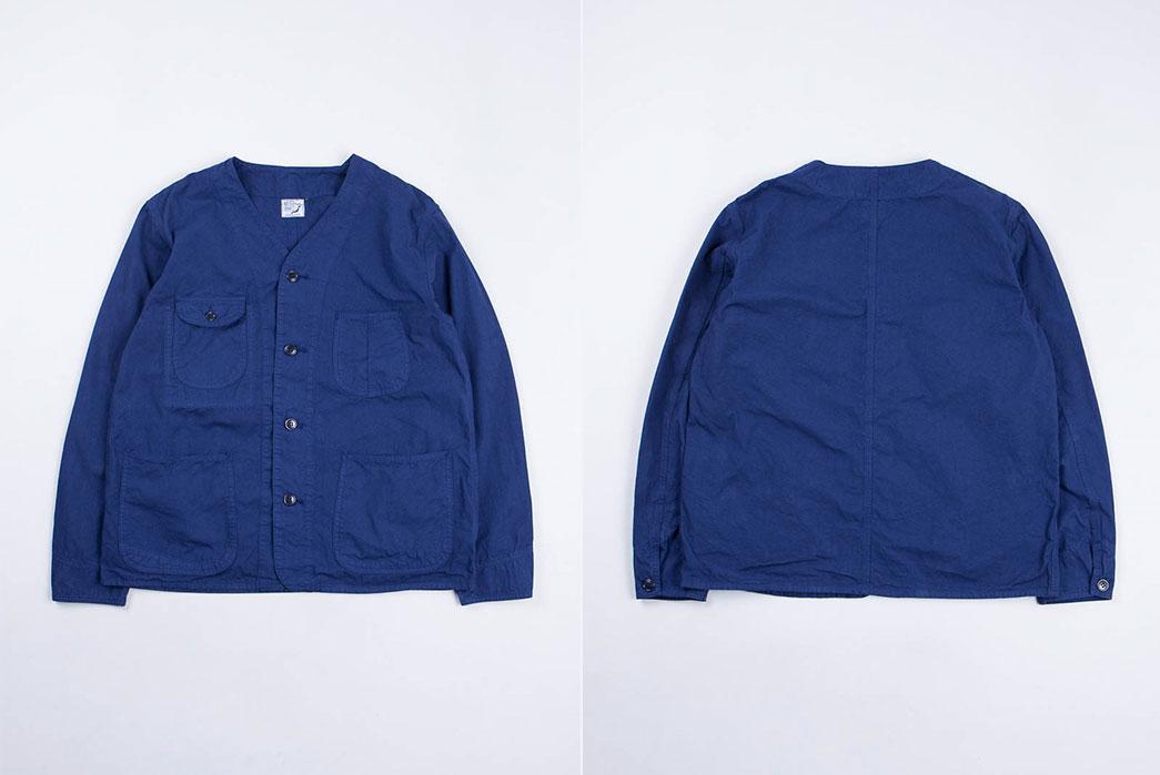 orSlow-Ink-Blue-Poplin-Rail-Road-Jacket-front-and-back-flat