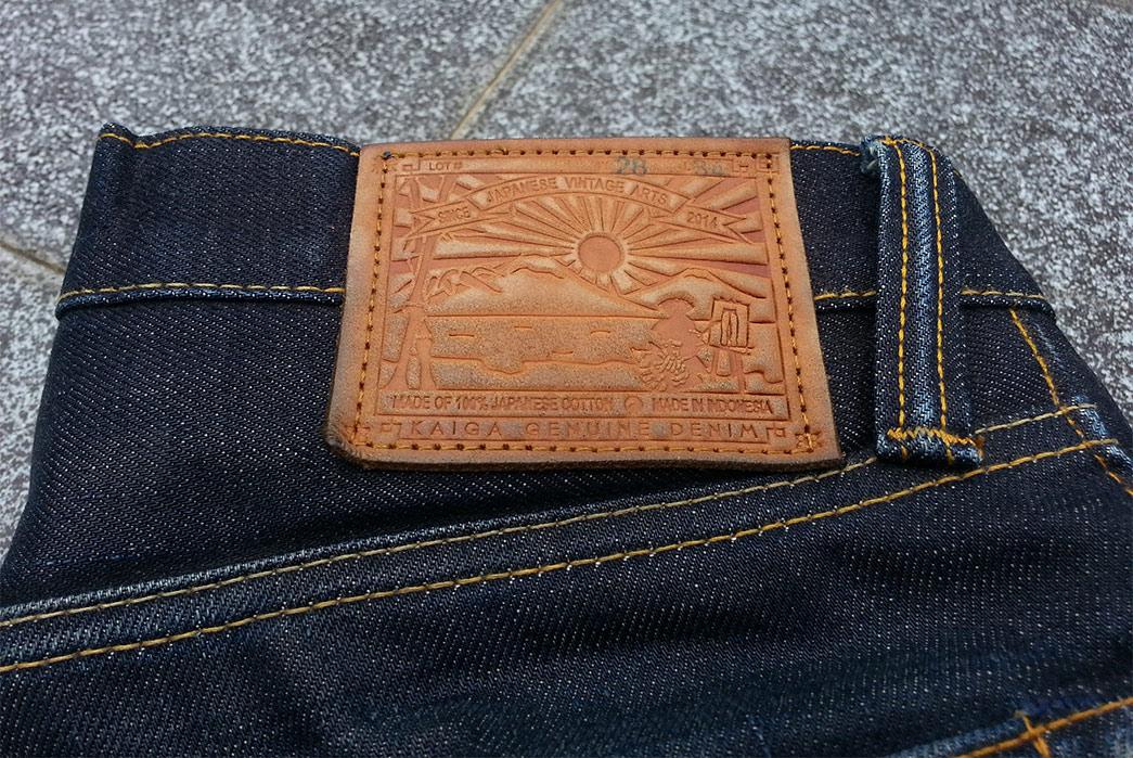 Fade of the Day – Kaiga Denim Asahi (7 Months, 1 Wash, 1 Soak) Leather Tag