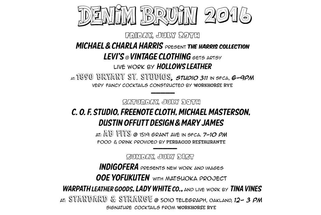 Denim Bruin San Fransicso Festival Announces 2016 Lineup