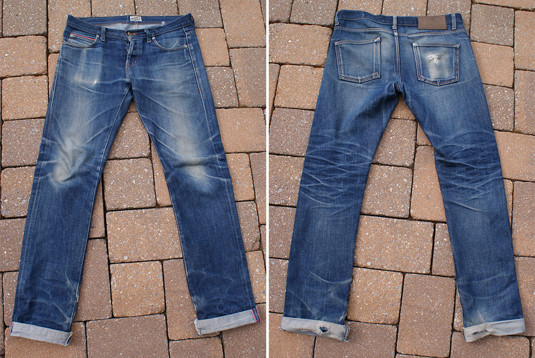 Fade of the Day – Naked & Famous Skinny Guy Dirty Fade (2 Years, 10 Months, 5 Washes) Front Back
