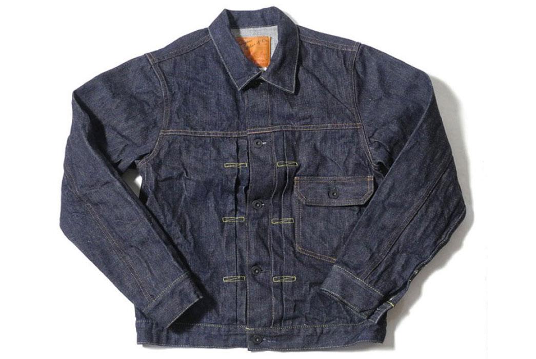 Denimio-Burgus-Plus-71928-Xx-Lot.71928-Natural-Indigo-Selvedge-1st-Type-Denim-Jacket-Front