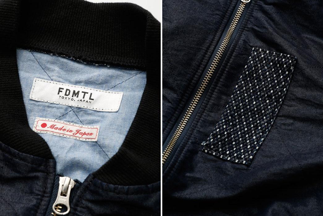 FDMTL-Indigo-Quilt-Stitch-MA-1-Collar