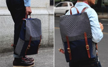 Kiriko-X-Red-Clouds-Collective-Navy-Backpack-Model