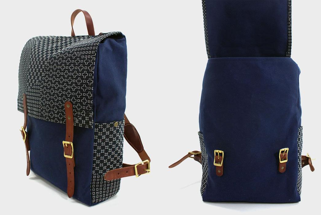 Kiriko-X-Red-Clouds-Collective-Navy-Backpack-Overside-open