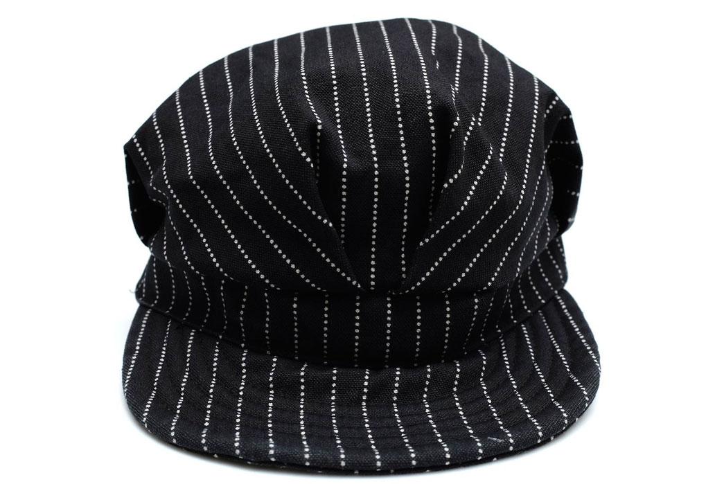 Momotaro-Denim-Railroad-Black-Wabash-Work-Hat-Front