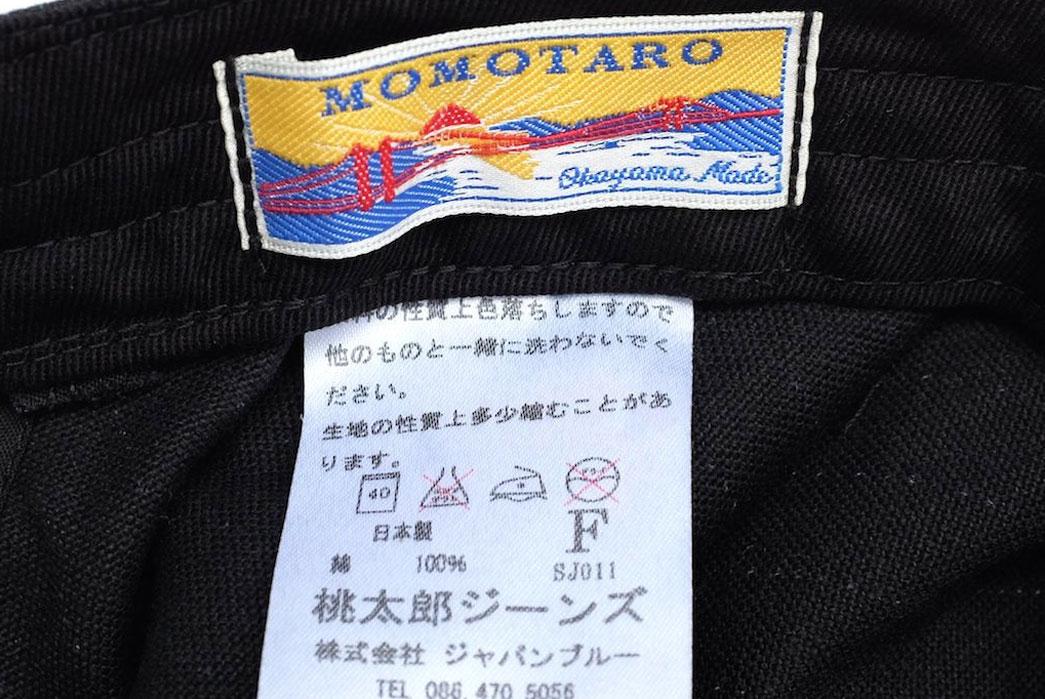 Momotaro-Denim-Railroad-Black-Wabash-Work-Hat-Patch