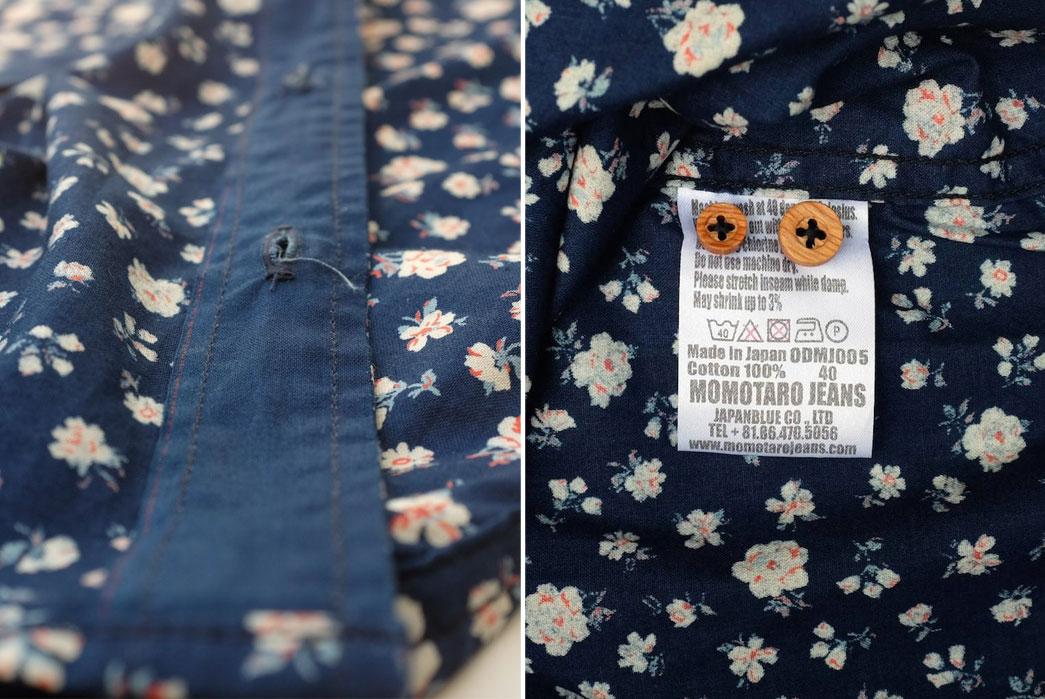 Momotaro-OD+MJ-Indigo-Floral-Selvedge-SS-Shirt-Button