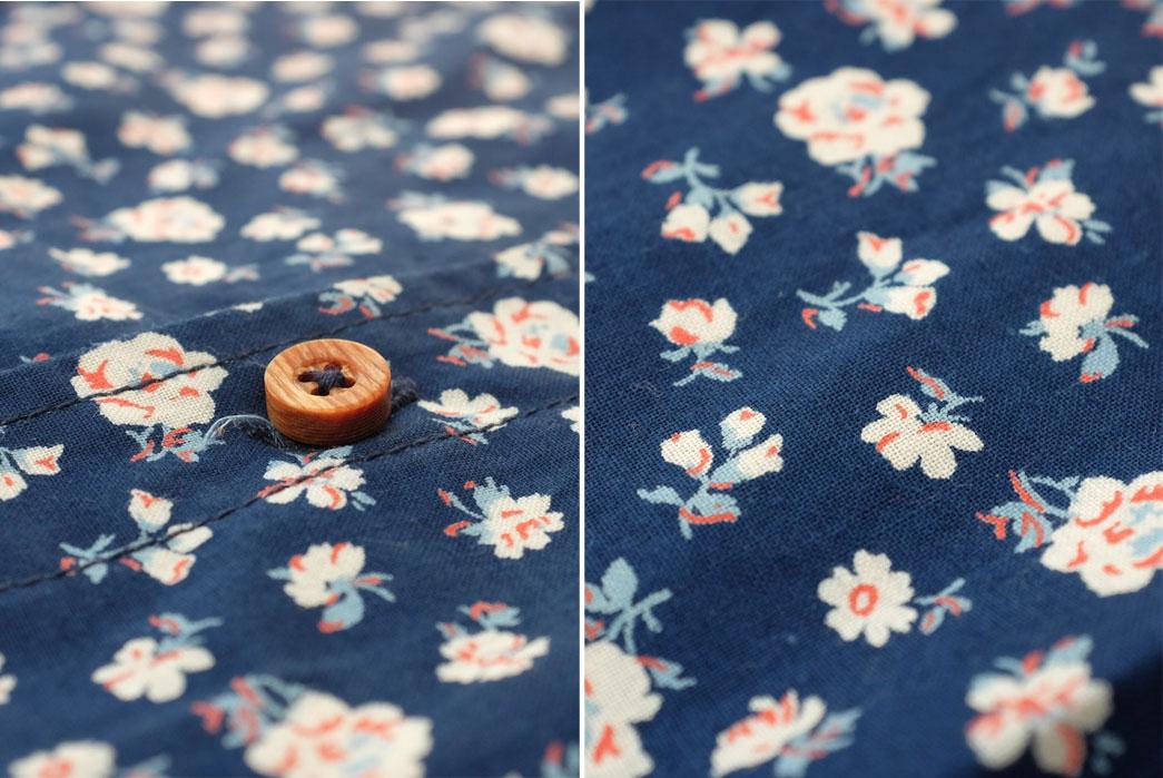 Momotaro-OD+MJ-Indigo-Floral-Selvedge-SS-Shirt-Cloth