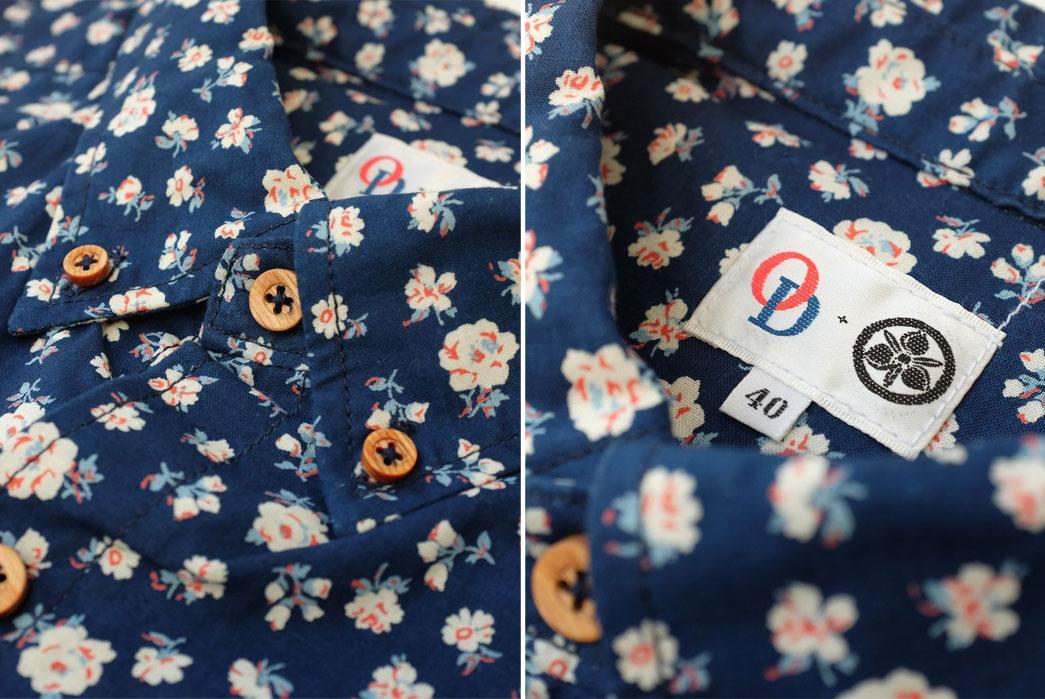 Momotaro-OD+MJ-Indigo-Floral-Selvedge-SS-Shirt-Collar