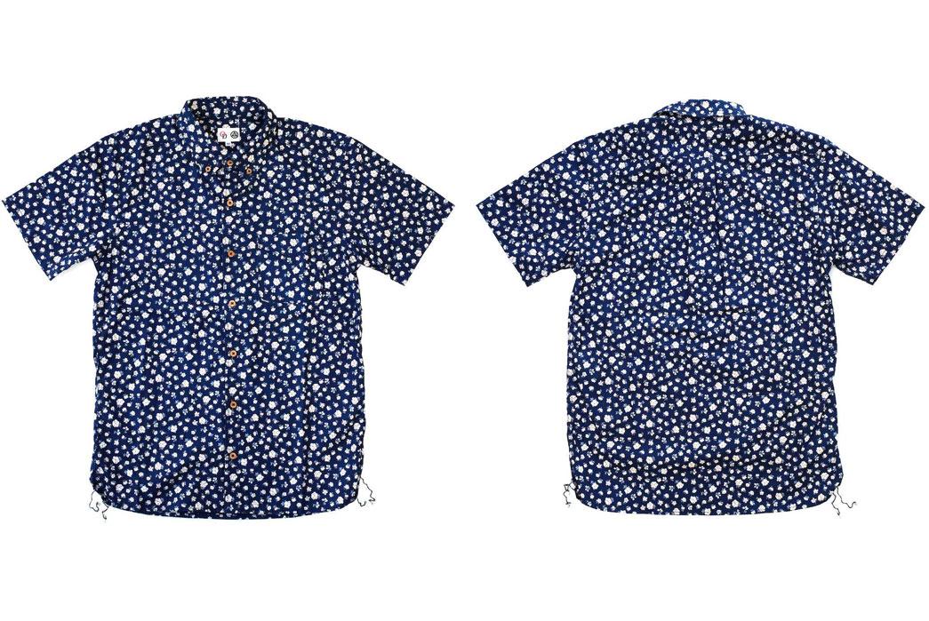 Momotaro-OD+MJ-Indigo-Floral-Selvedge-SS-Shirt-Front-Back