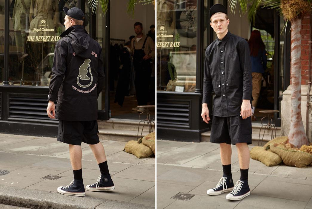 Nigel-Cabourn-6Spring-Summer-17-Desert-Rats-Black-Shirt