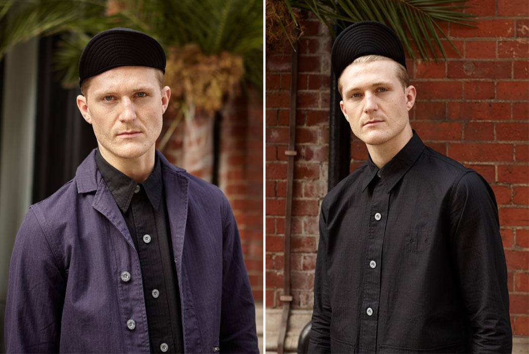 Nigel-Cabourn-6Spring-Summer-17-Desert-Rats-Purple-Blue-Shirts