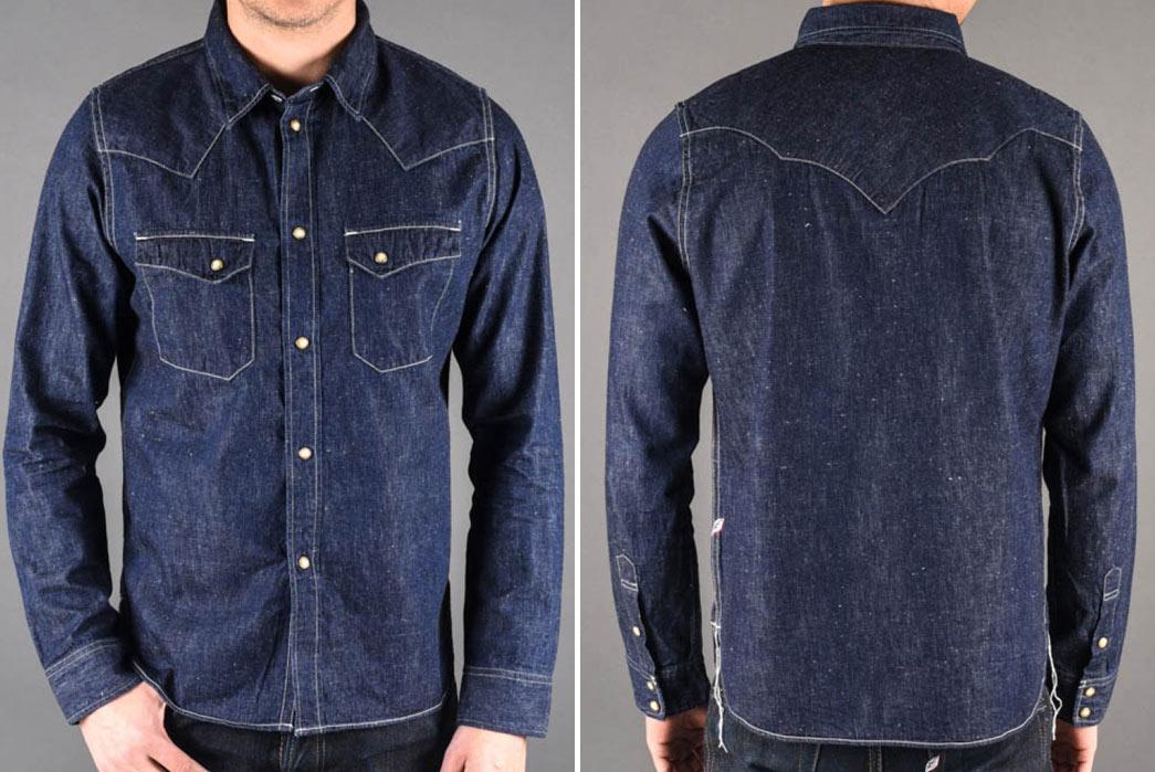 Pure Blue Japan 5oz. Knub Denim Western Shirt