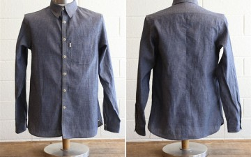 Railcar-x-Masterson-Japanese-Chambray-Button-Up-Front-Back
