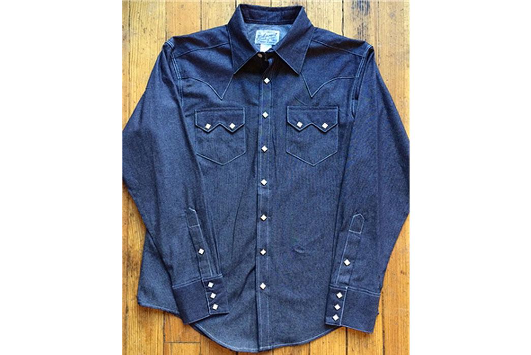 Rockmount: Slim Fit No Wash Western Denim Shirt