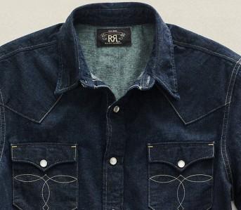 Snap-Denim-Western-Shirts-Five-Plus-One