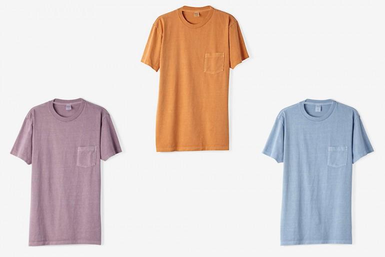 Steven-Alan-Pigment-Dyed-Crew-Neck-Short-Sleeve-Tee-Purple-orange-blue