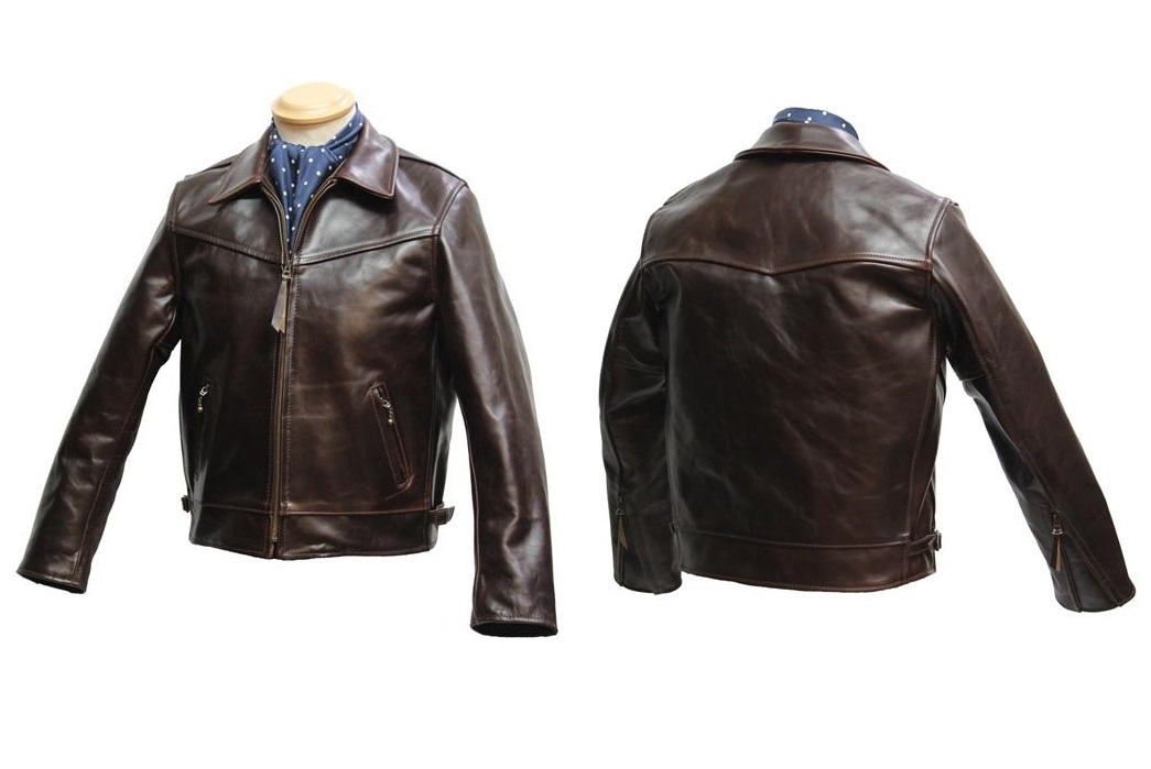Aero Leather: Zip Sleeve Highwayman jacket