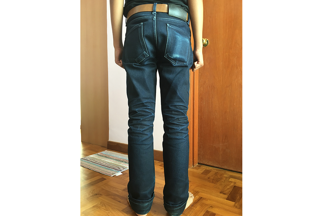 Fade of the Day –Naked & Famous Elephant 4 (5 Months, 0 Washes, 0 Soaks) Back Fit