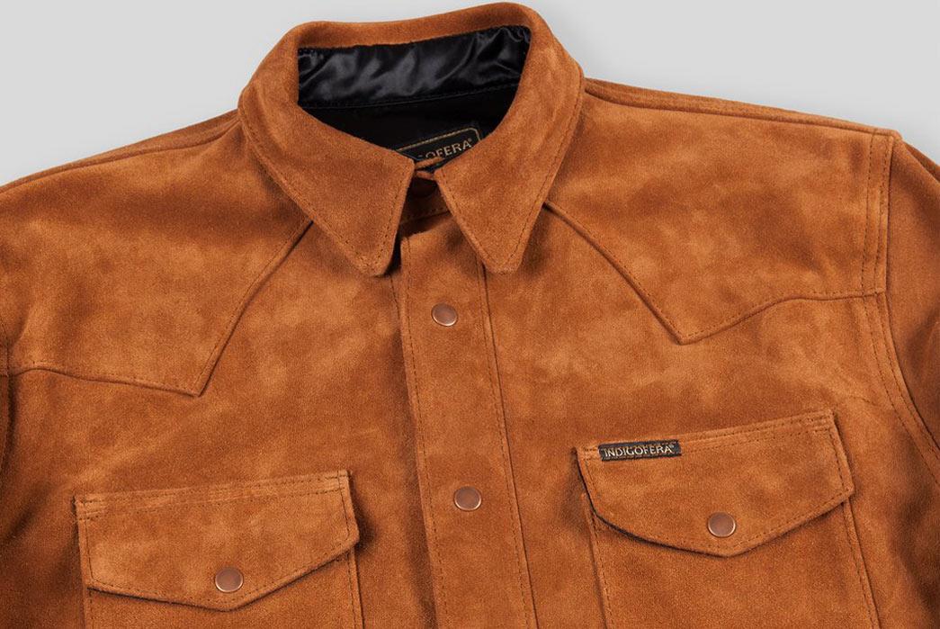 Indigofera-Hawley-Goat-Suede-Western-Shirt-Collar