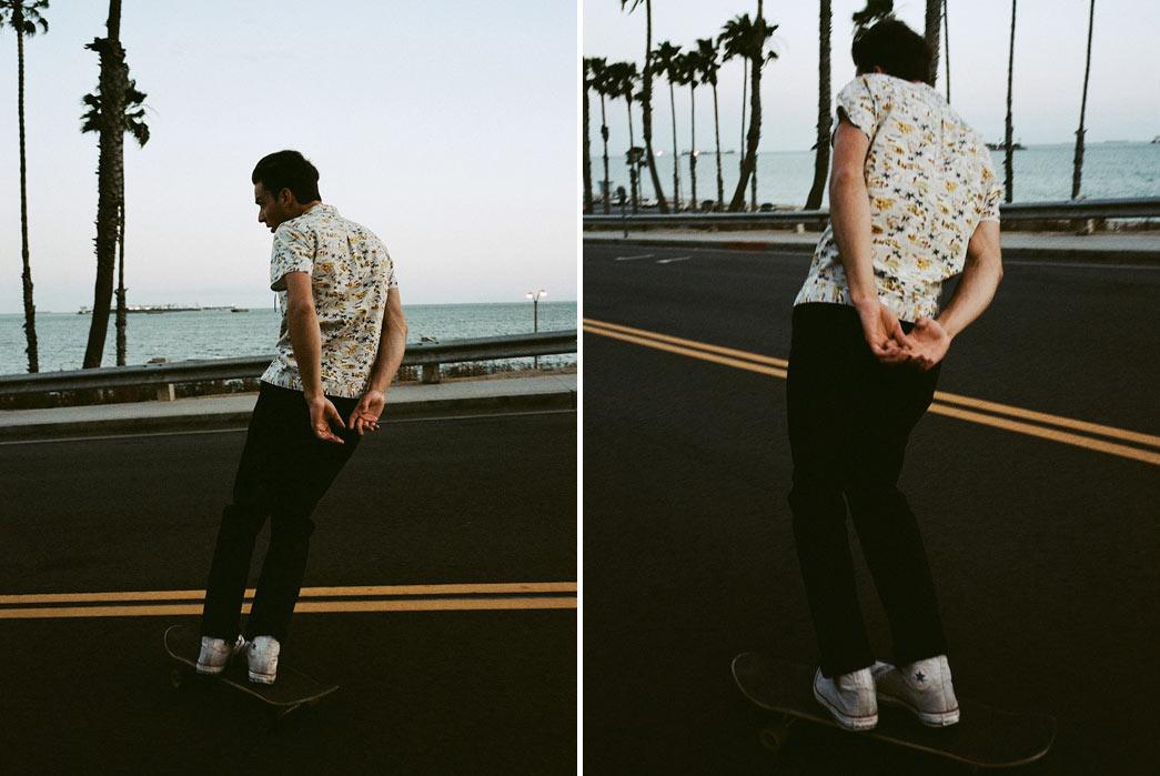 Knickerbocker-Mfg.-Co.-Hawaiian-Shirt-Model-Skateboard