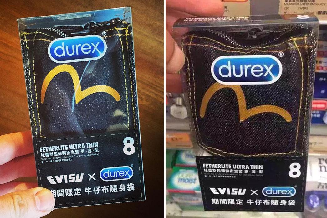 Durex x Evisu Denim Condoms?