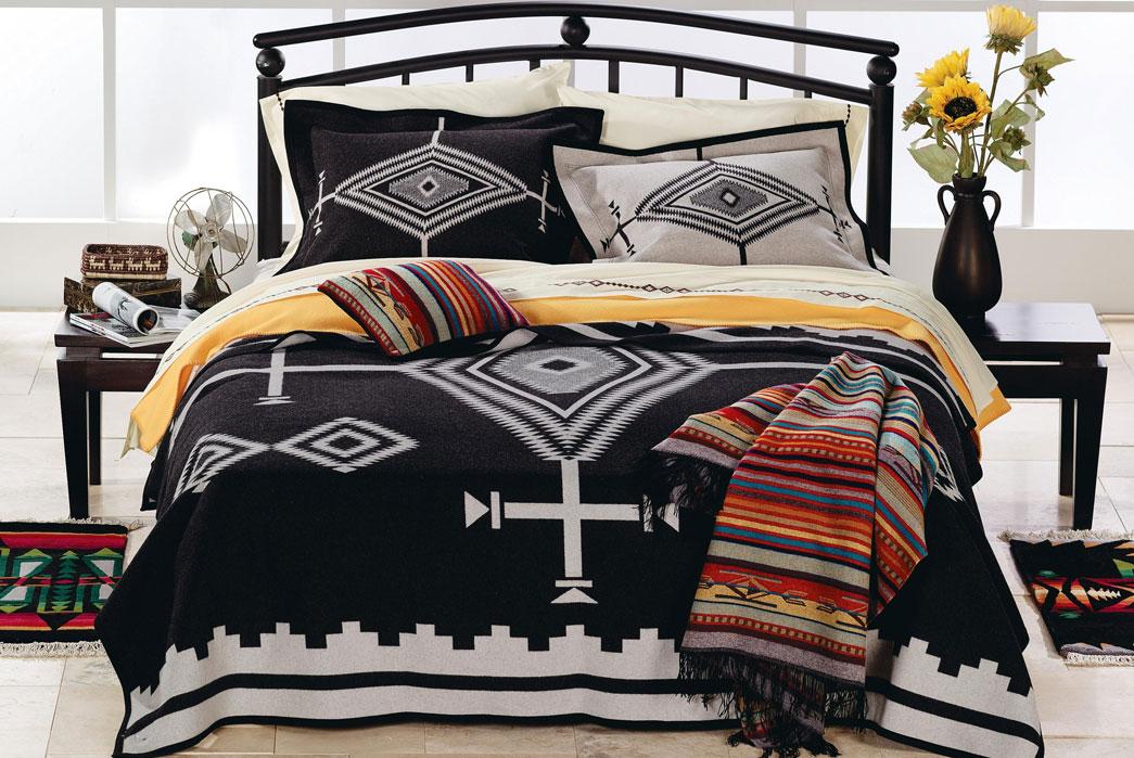 Pendleton Woolen Mills blankets. Image via Drew's Boots.