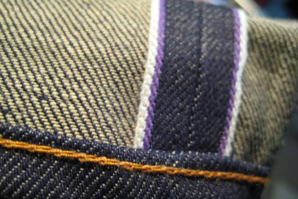 PRPS's signature purple selvedge.